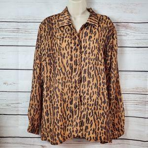 Miss Sukhmani | Cheetah Animal Print Buttoned Top